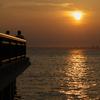 江ノ島から望む夕陽