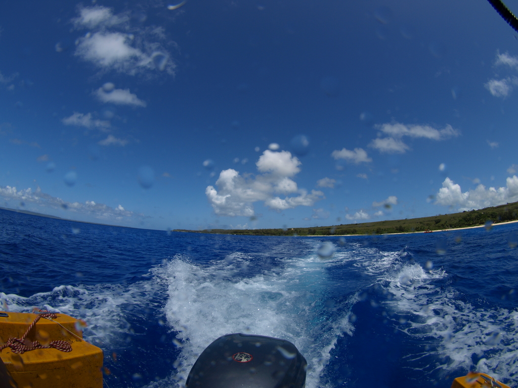 青い空! 青い海!