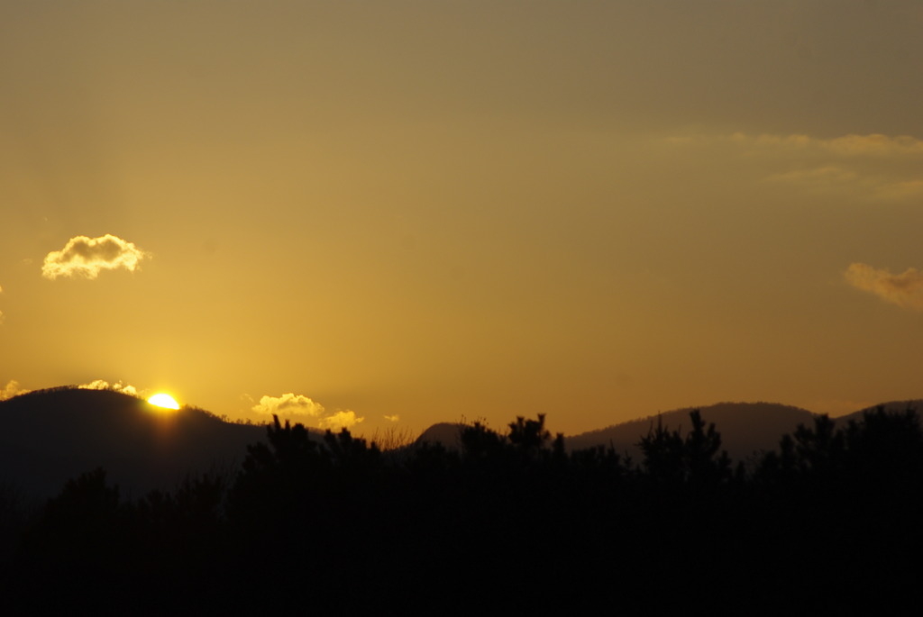 前田森林公園の夕日