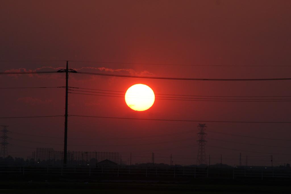 菖蒲町の夕日(1)