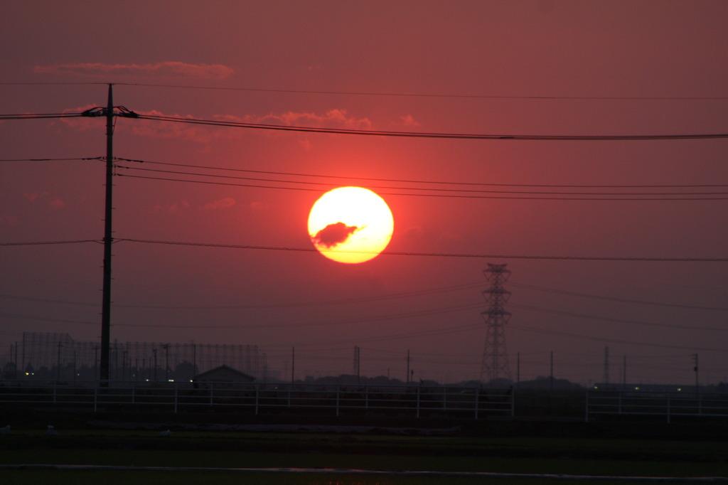 菖蒲町の夕日(2)