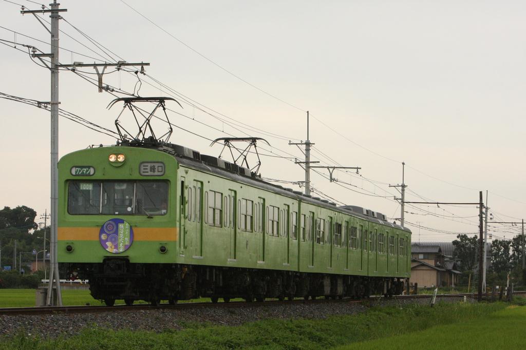 秩父鉄道 うぐいす色