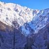 樹氷と穂高連峰