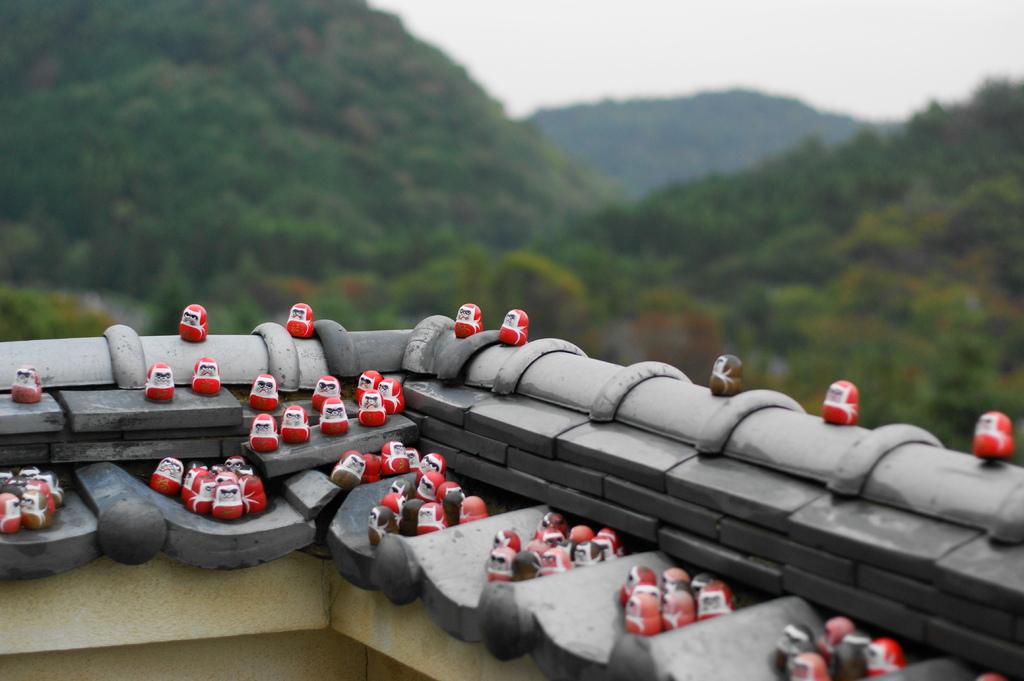 小雨のお寺2