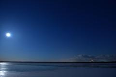 ウトナイ湖の夜
