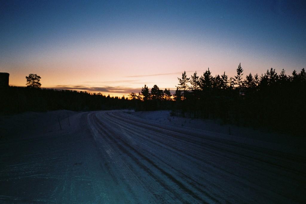 午後2時の日没(フィンランド)