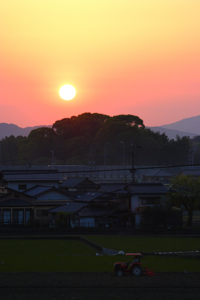 ある日の夕日