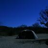 真夜中のキャンプ場