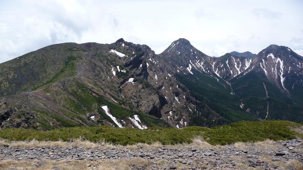 硫黄岳より赤岳