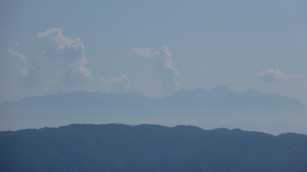宝剣岳山頂からの槍穂高連峰