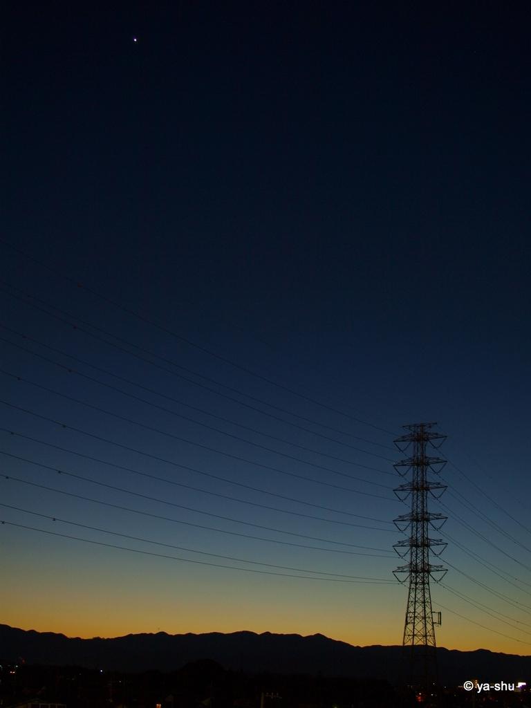 金星と鉄塔