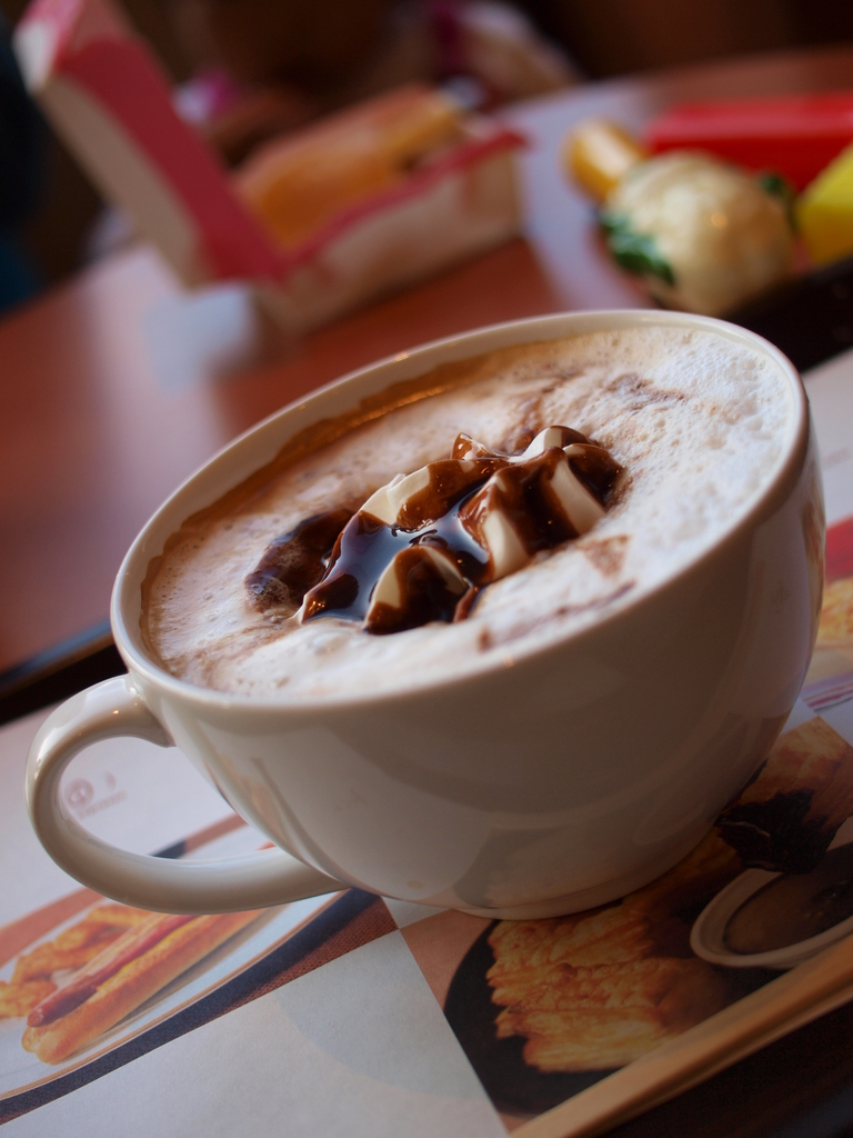 娘とカフェにて