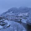 豪雪の温泉宿