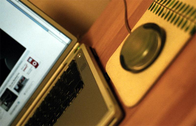 丸形マウス(Apple USB Mouse)