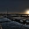 ある漁港の夜明け