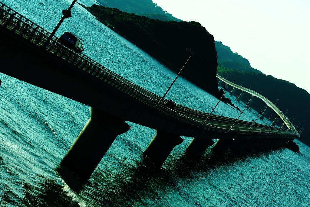 Bridge across sea