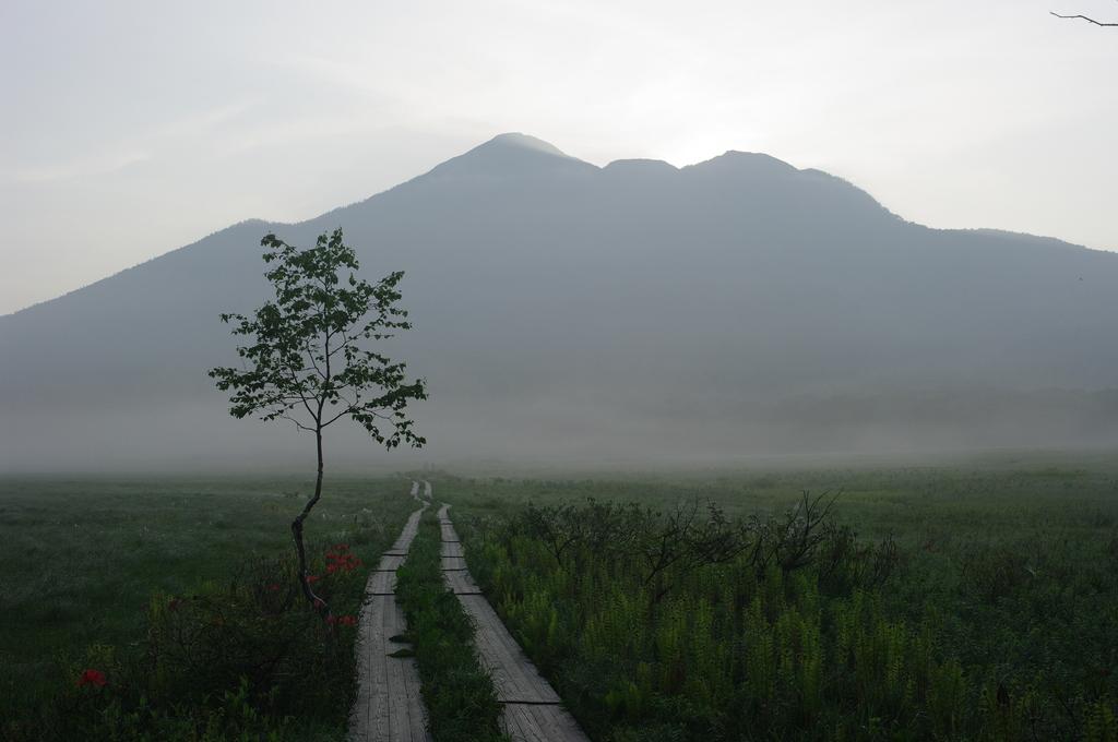 早朝の燧ケ岳