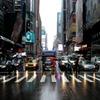 雨のタイムズスクエア