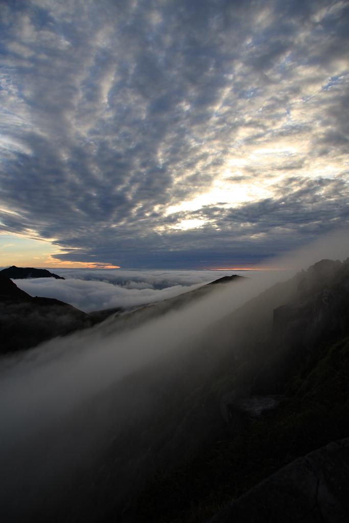 久住山の夜明け