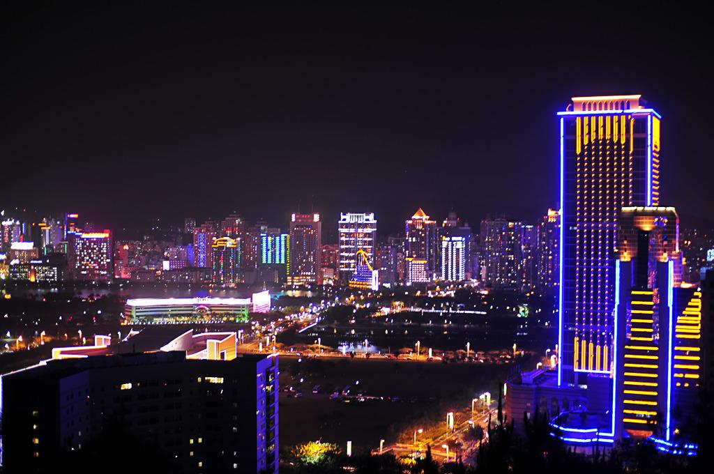 私の町の夜景