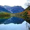 上高地 秋の定番風景