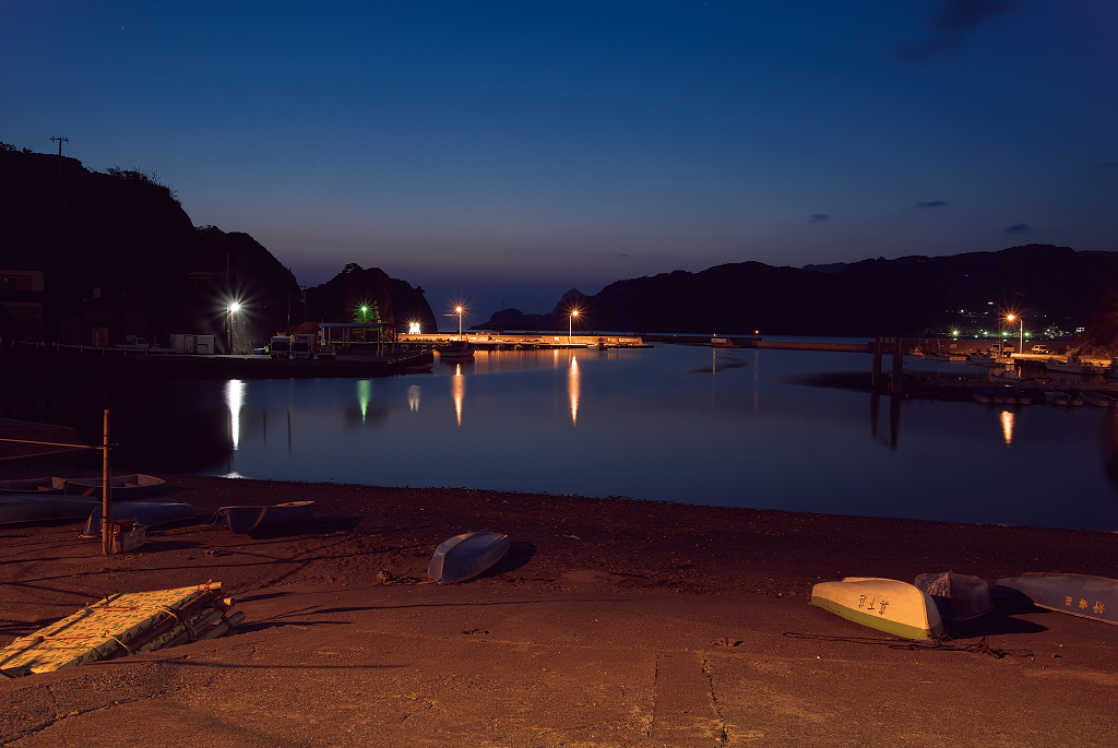 Fishing Port in the evening