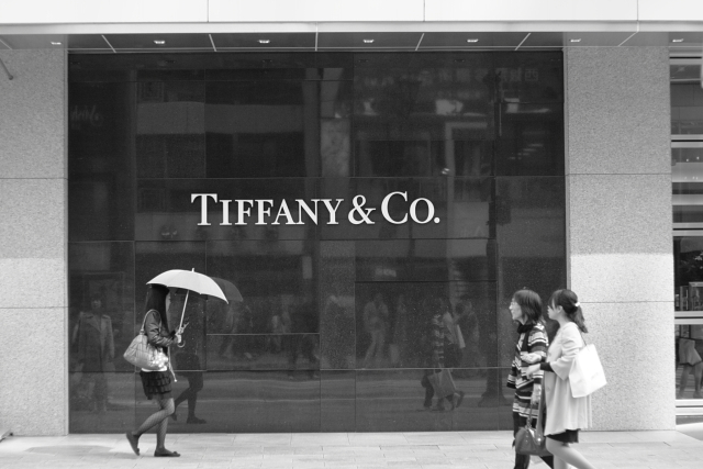 In front of tiffany