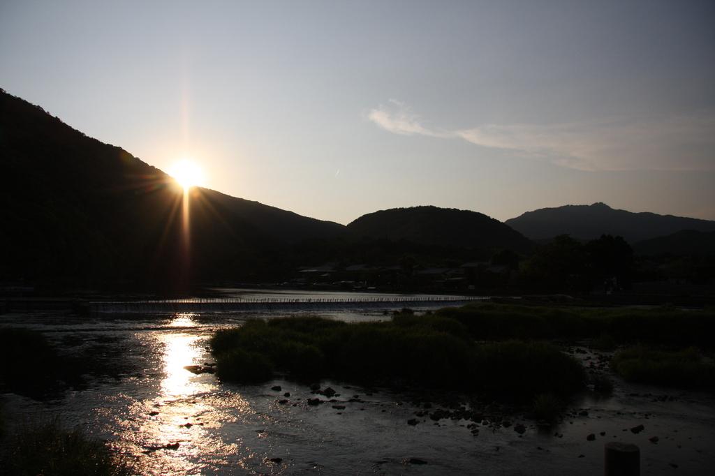 嵐山の夕日
