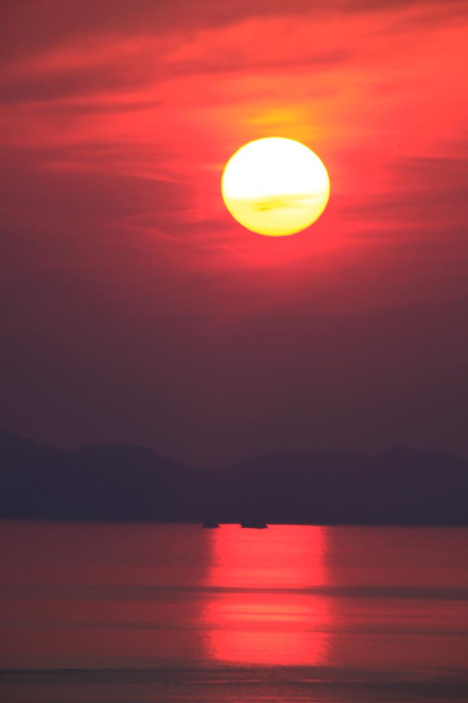 伊毘の夕日2