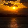 伊毘から見た夕陽 2