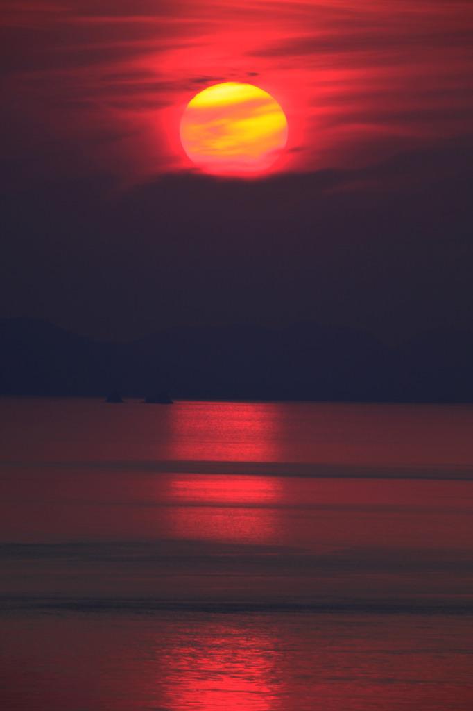 伊毘の夕日3
