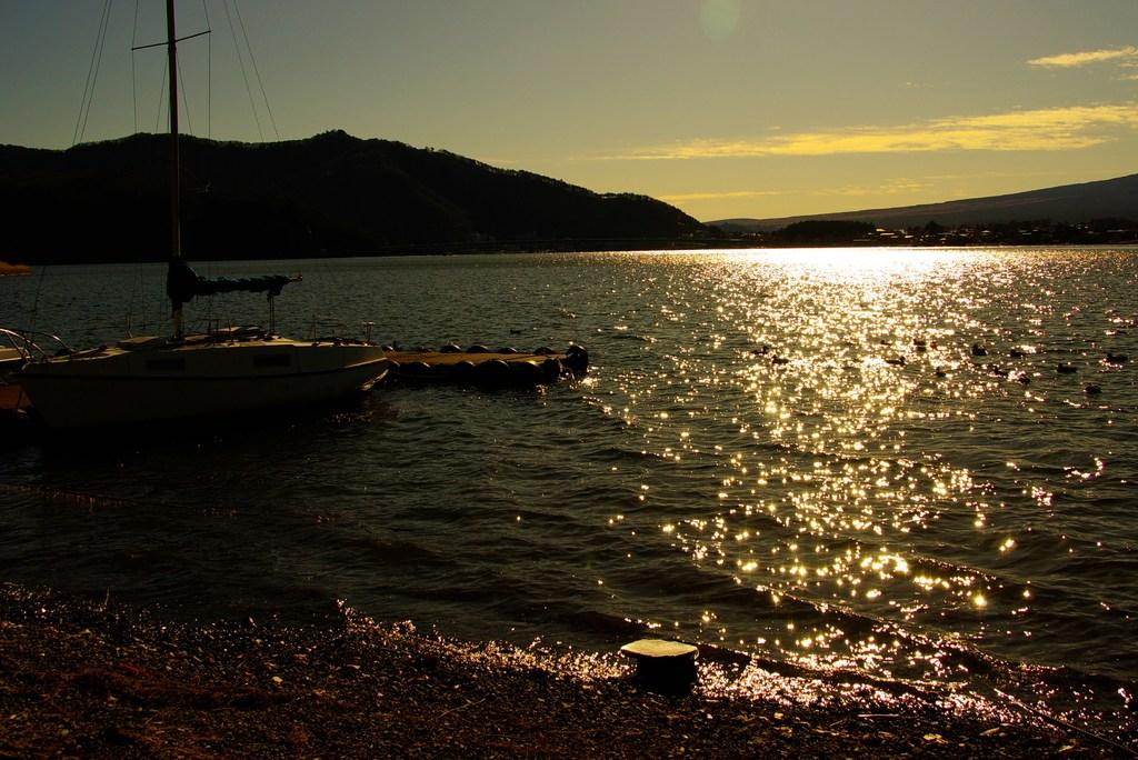 黄昏lakeside。