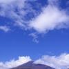 色づき始める富士の山