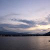 Lake, sky, and the mountain