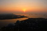 マラッカ海峡の朝