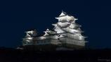 西から夜の姫路城①