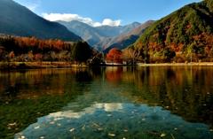 駒ヶ池秋風景
