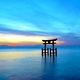 近江厳島の夜明け