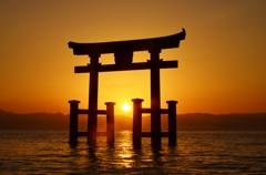 近江厳島日の出