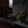 グラバー邸の台所と活け花
