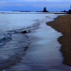 大晦日の雨晴海岸