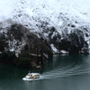 雪の庄川峡