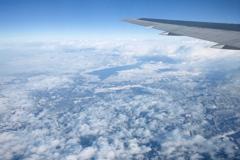 琵琶湖上空