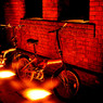 レンガと自転車