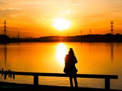 夕陽のカメラ女子..(その2)