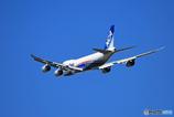 「良い天気」 NCA 747-8KZF JA16KZ飛行