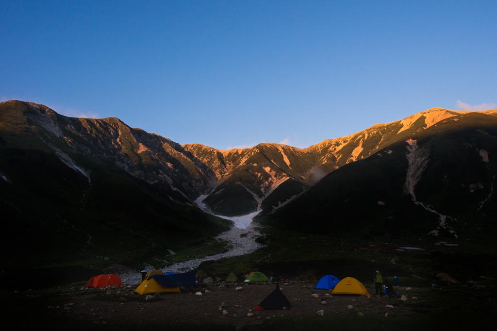 立山連峰のアーベントロート