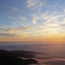 蝶ヶ岳の朝