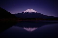 月夜の富士山