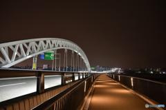 夜の太田川大橋